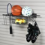 HandiWall Sports Rack w/ Basket HSSR25
