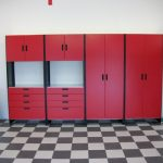red closet cabinets